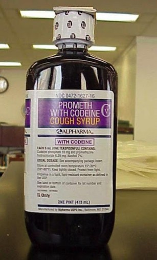 cough syrup.